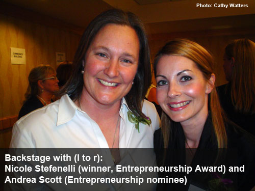 Women of Distinction 2012 - Entrepreneurship Award Winner (Photo: Cathy Watters)
